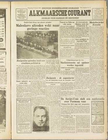 Alkmaarsche Courant 1955-02-09