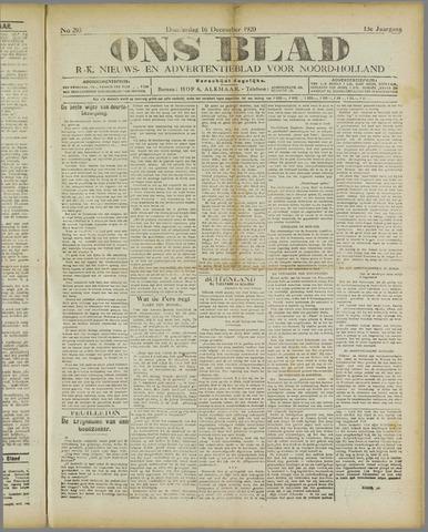 Ons Blad : katholiek nieuwsblad voor N-H 1920-12-16
