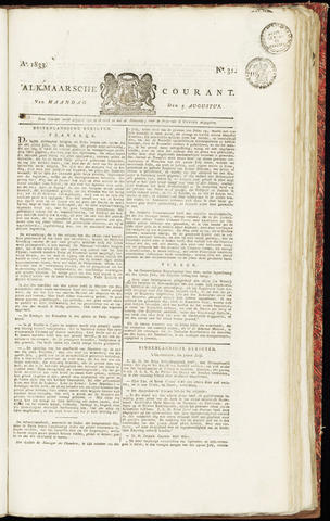 Alkmaarsche Courant 1833-08-05
