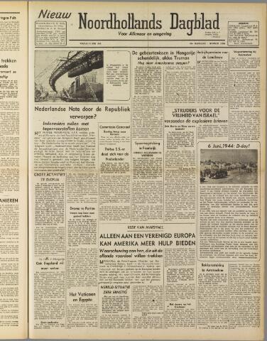Nieuw Noordhollandsch Dagblad : voor Alkmaar en omgeving 1947-06-19