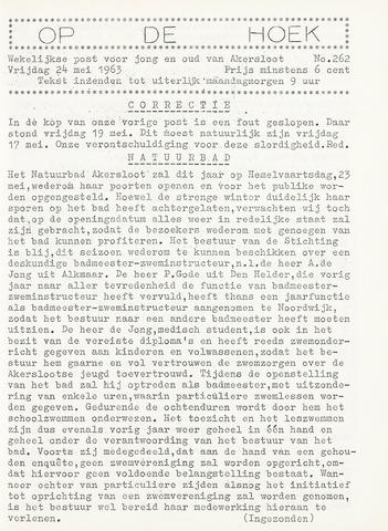 Op De Hoek, weekblad voor Akersloot 1963-05-24