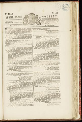 Alkmaarsche Courant 1848-11-27