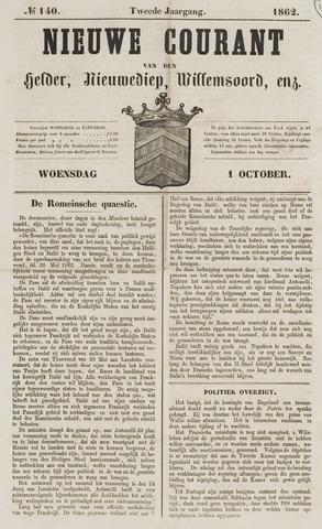 Nieuwe Courant van Den Helder 1862-10-01