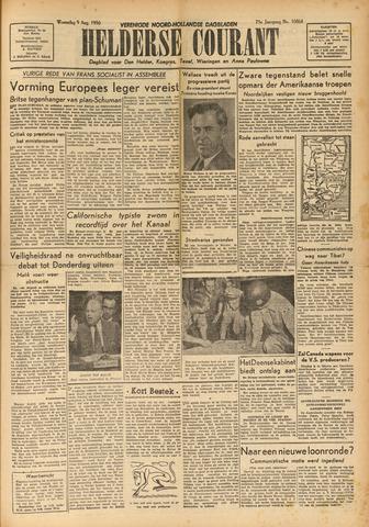 Heldersche Courant 1950-08-09