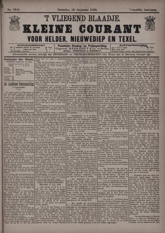 Vliegend blaadje : nieuws- en advertentiebode voor Den Helder 1884-08-16