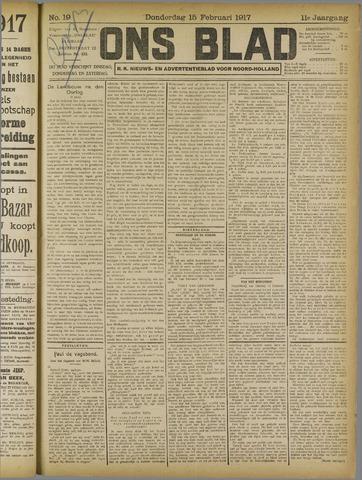 Ons Blad : katholiek nieuwsblad voor N-H 1917-02-15