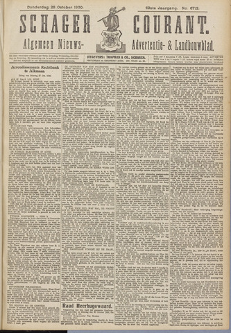Schager Courant 1920-10-28