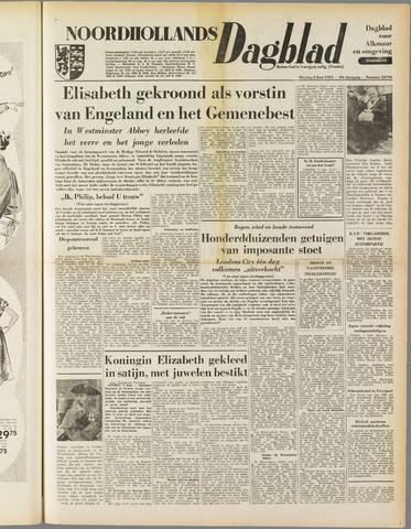 Noordhollands Dagblad : dagblad voor Alkmaar en omgeving 1953-06-02