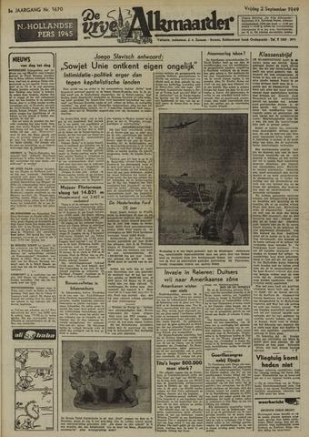 De Vrije Alkmaarder 1949-09-02