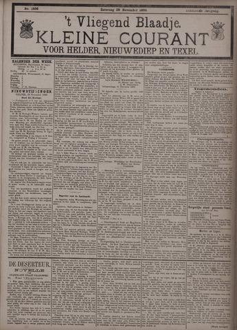 Vliegend blaadje : nieuws- en advertentiebode voor Den Helder 1890-11-29