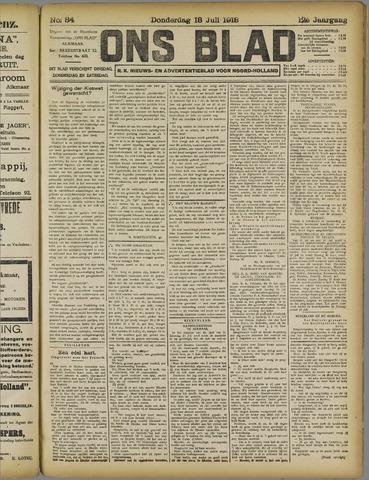 Ons Blad : katholiek nieuwsblad voor N-H 1918-07-18