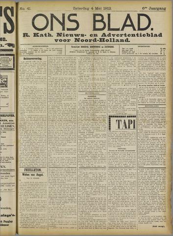 Ons Blad : katholiek nieuwsblad voor N-H 1912-05-04