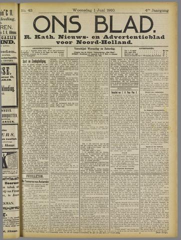 Ons Blad : katholiek nieuwsblad voor N-H 1910-06-01