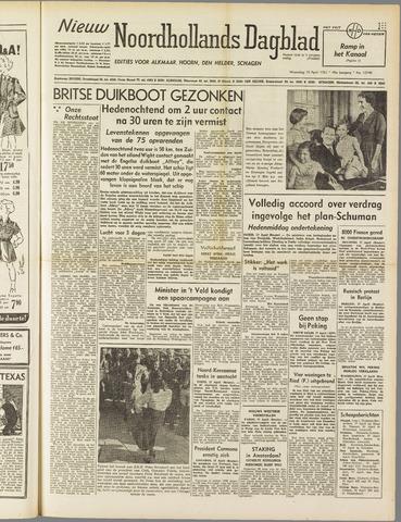 Nieuw Noordhollandsch Dagblad : voor Alkmaar en omgeving 1951-04-18