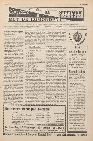 Contact met de Egmonden 1962-04-19