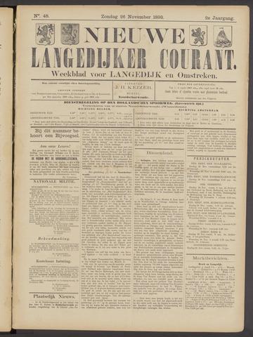 Nieuwe Langedijker Courant 1893-11-26