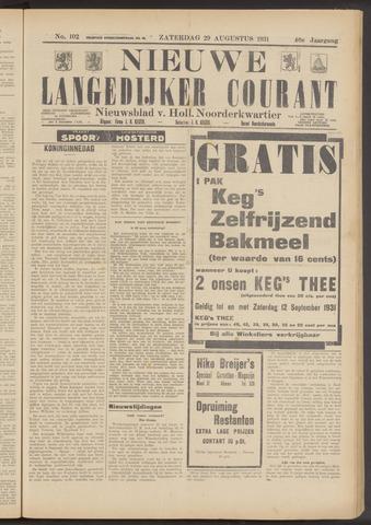 Nieuwe Langedijker Courant 1931-08-29