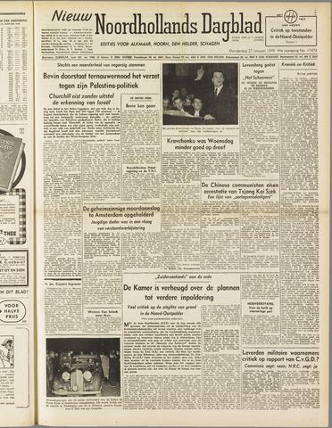 Nieuw Noordhollandsch Dagblad : voor Alkmaar en omgeving 1949-01-27