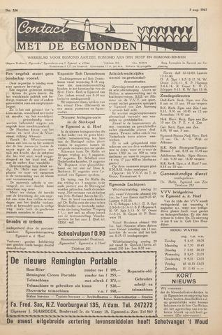 Contact met de Egmonden 1962-08-02