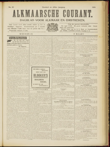 Alkmaarsche Courant 1909-03-17