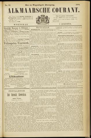 Alkmaarsche Courant 1894-08-01