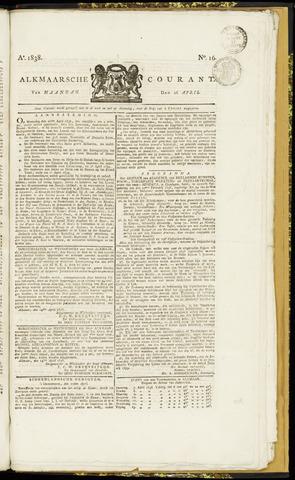 Alkmaarsche Courant 1838-04-16