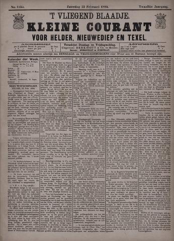Vliegend blaadje : nieuws- en advertentiebode voor Den Helder 1884-02-23