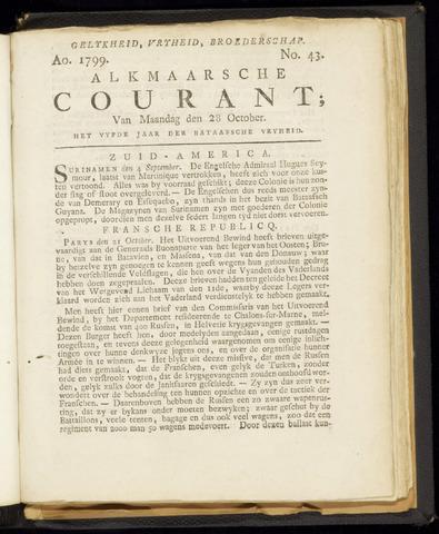 Alkmaarsche Courant 1799-10-28