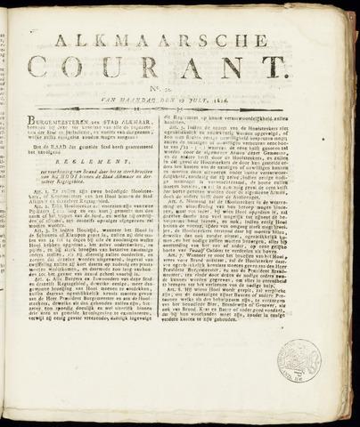 Alkmaarsche Courant 1816-07-29