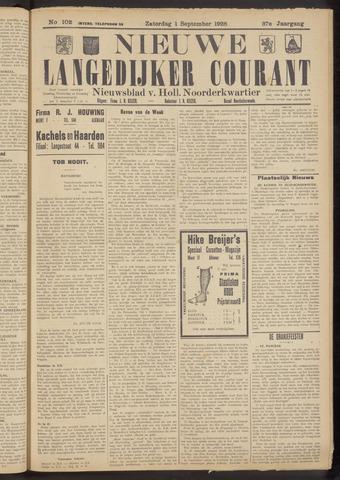 Nieuwe Langedijker Courant 1928-09-01