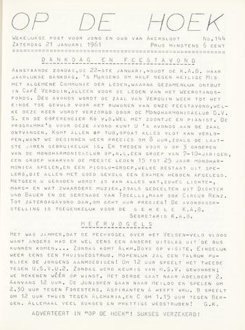 Op De Hoek, weekblad voor Akersloot 1961-01-21