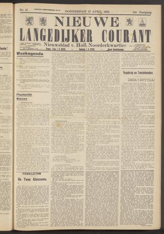 Nieuwe Langedijker Courant 1932-04-21