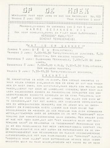Op De Hoek, weekblad voor Akersloot 1961-06-02