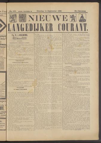 Nieuwe Langedijker Courant 1922-09-12