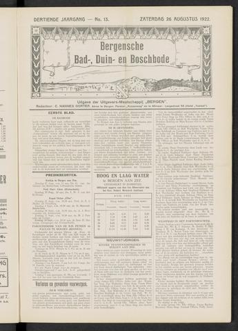 Bergensche bad-, duin- en boschbode 1922-08-26