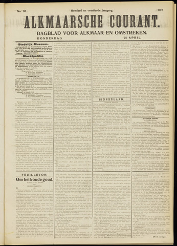 Alkmaarsche Courant 1912-04-25
