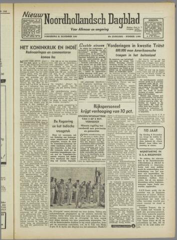 Nieuw Noordhollandsch Dagblad : voor Alkmaar en omgeving 1946-11-21