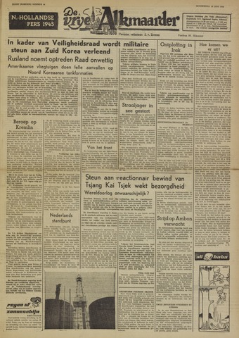 De Vrije Alkmaarder 1950-06-30