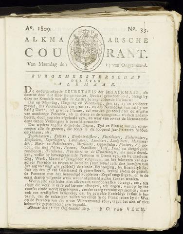Alkmaarsche Courant 1809-08-14