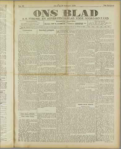 Ons Blad : katholiek nieuwsblad voor N-H 1920-02-24