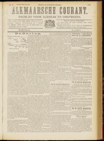 Alkmaarsche Courant 1915-04-14