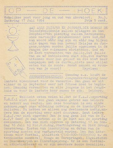 Op De Hoek, weekblad voor Akersloot 1954-07-17