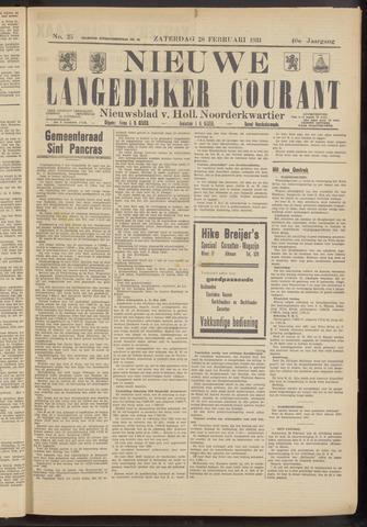 Nieuwe Langedijker Courant 1931-02-28