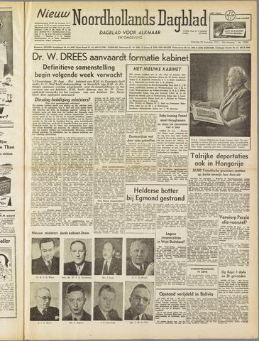 Nieuw Noordhollandsch Dagblad : voor Alkmaar en omgeving 1952-08-30
