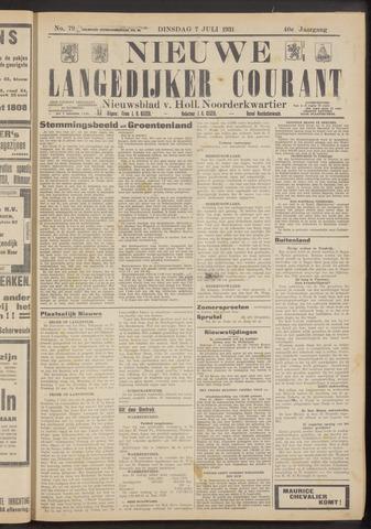 Nieuwe Langedijker Courant 1931-07-07