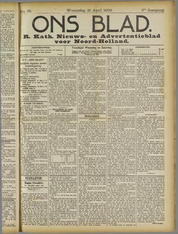 Ons Blad : katholiek nieuwsblad voor N-H 1909-04-21