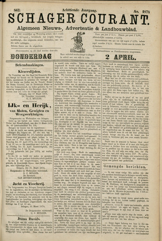 Schager Courant 1874-04-02