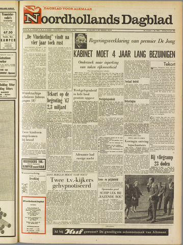 Noordhollands Dagblad : dagblad voor Alkmaar en omgeving 1967-04-18