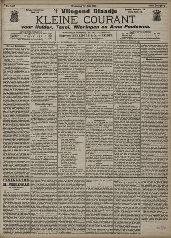 Vliegend blaadje : nieuws- en advertentiebode voor Den Helder 1906-07-18