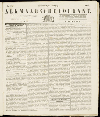 Alkmaarsche Courant 1874-12-20